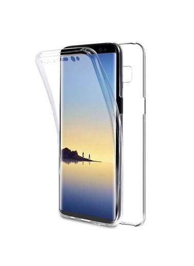 Microsonic Samsung Galaxy Note 8 Kılıf 6 tarafı tam full koruma 360 Clear Soft  Renksiz